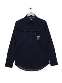 G Star Raw Shirt Long Sleeve Navy