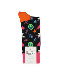 Happy Socks Peace And Love Socks Black
