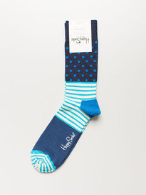 Happy Socks Sd01-066 Stripe Dot Sock Blue