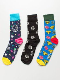 Happy Socks X Billionaire Boys Club 3 Pack Box Set Multi