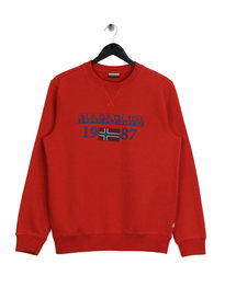 Napapijri Berthow Logo Crew Sweat Red