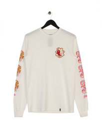 Huf Chloe K Yin-Yang Long Sleeve T-Shirt White