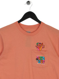 Huf Club HUF Pocket Short Sleeve T-Shirt Pink