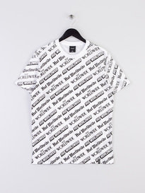 Huf Fake News Short Sleeve T-Shirt White