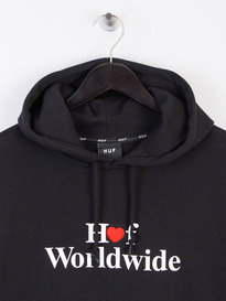 Huf Love Pull Over Hoodie Black
