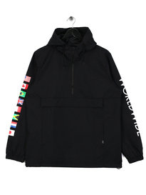 HUF Regional Tour Anorak Jacket Black