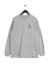 HUF Triple Triangle Long Sleeve T-Shirt Grey