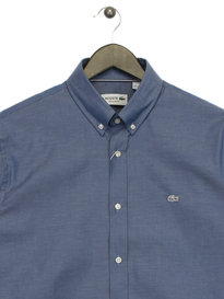 Lacoste City Chambray Long Sleeve Shirt Navy
