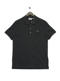 Lacoste Pocket Pique Polo Shirt Grey