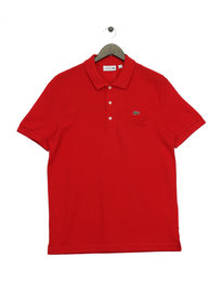 Lacoste Pocket Pique Polo Shirt Red