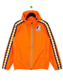 Kappa x K-Way Le Vrai Claude Banda Jacket Orange