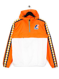 Kappa x K-Way Le Vrai Leon Banda Jacket Orange