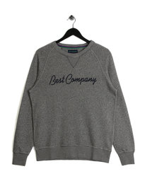 Best Company Logo Marle Sweater Grey