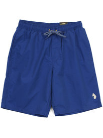 Luke Cagy Knee Length Swim Shorts Blue