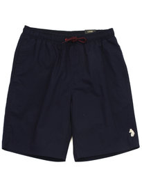 Luke Cagy Knee Length Swim Shorts Navy