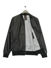 Luke Caperwomme Mixed Fabric Bomber Black