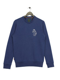 Luke Carey Sport Slim Fit Sweat Blue