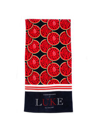 Luke Lovely Melons Beach Towel Red