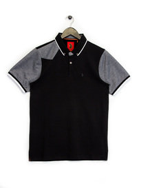 Luke Mega Tipped Polo Shirt Black