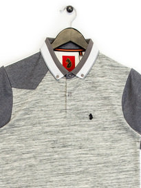 Luke Mega Tipped Polo shirt Grey