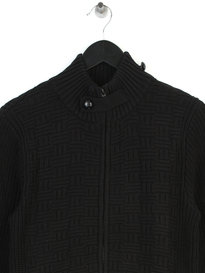 Luke Pistup Zip Through Roll Neck Black