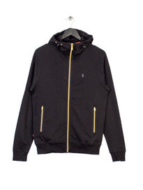 LUKE PLUG OTM ZIP THROUGH HOODY BLACK