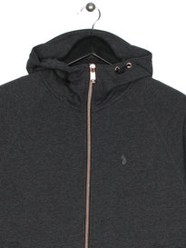 Luke Plug OTM Zip Through Hoody Charcoal