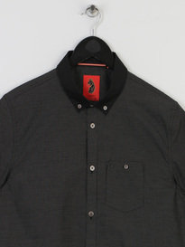 Luke Spencer Satin Coallered Shirt Black