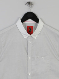 Luke Spencer Satin Coallered Shirt White