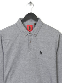 Luke Smasher Long Sleeve  Polo Shirt Grey
