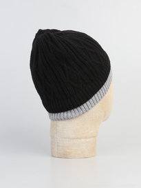 LUKE UNCLE DIAMOND AND RIB BEANIE BLACK