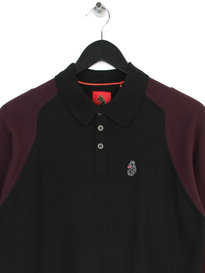 Luke Whacker OTM 2 Tone Sleeve Sleeve Polo Black