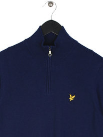 Lyle & Scott 1/4 Zip Cotton Merino Jumper Navy