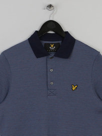 LYLE & SCOTT ALL OVER BIRDSEY POLO NAVY