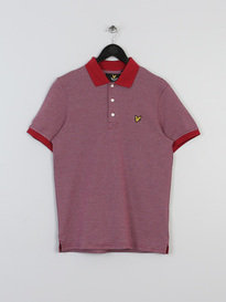 LYLE & SCOTT ALL OVER BIRDSEY POLO RED