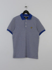 LYLE & SCOTT ALL OVER BIRDSEY POLO WHITE