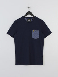 LYLE & SCOTT BIRDSEYE POCKET TSHIRT NAVY
