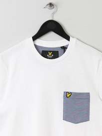LYLE & SCOTT BIRDSEYE POCKET TSHIRT WHITE