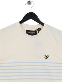 Lyle & Scott Breton Stripe T-shirt Sky Blue