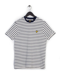 LYLE & SCOTT BRETON STRIPE T-SHIRT OFF WHITE