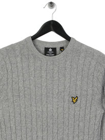 Lyle & Scott Cable Jumper d24 Light Grey