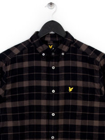 Lyle & Scott Check Flannel Shirt Black