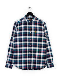 Lyle & Scott Check Flannel Shirt Off White