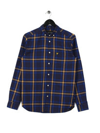Lyle & Scott Check Flannel Shirt z419 Navy