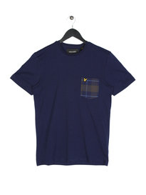 Lyle & Scott Check Pocket T-Shirt Z99 Navy