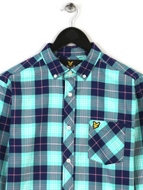 Lyle & Scott Check Shirt Blue