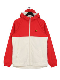 Lyle & Scott Colour Block Jacket Tomato Red