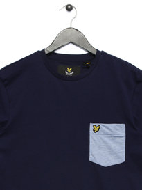 Lyle & Scott Contrast Pocket T-Shirt Navy