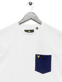 Lyle & Scott Contrast Pocket T-Shirt White