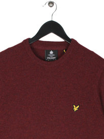 Lyle & Scott Crew Neck Lambswool Jumper Claret